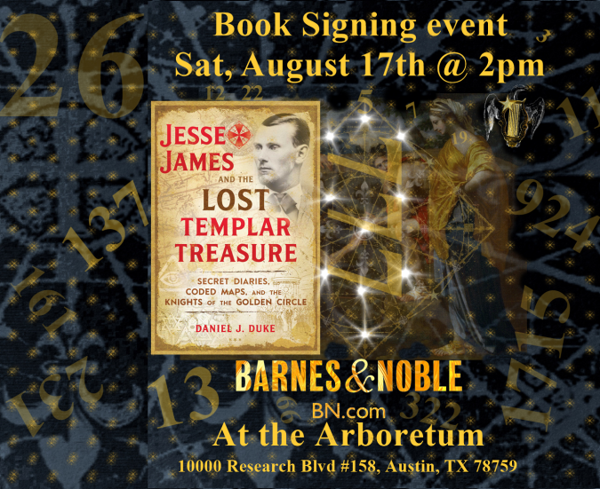 Book Signing 'Jesse James and the Lost Templar Treasure'